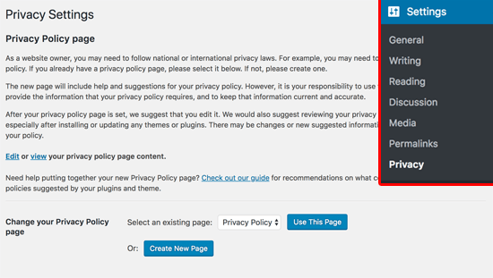GDPR politica de privacidad
