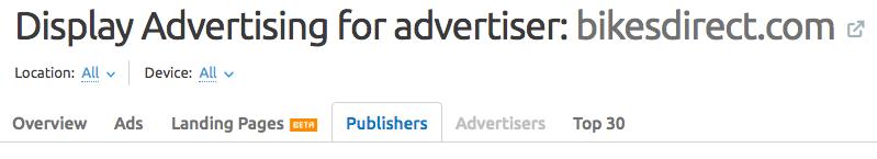 semrush publishers
