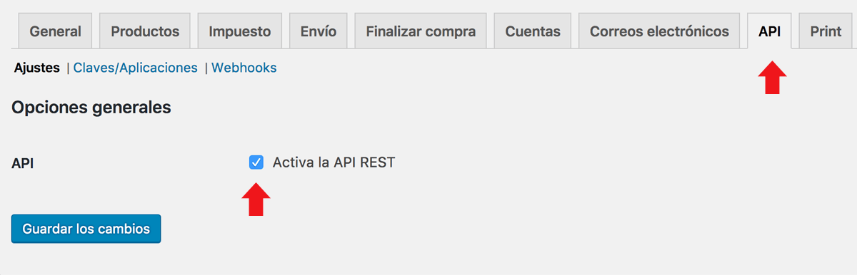 Activar la REST API de Woocommerce en WordPress - José