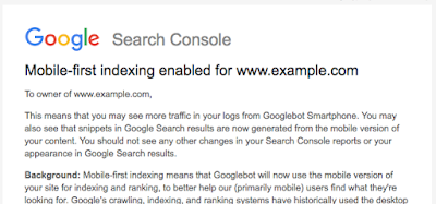 mobile-first indexing Search Console