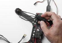 montando un ESC en un drone