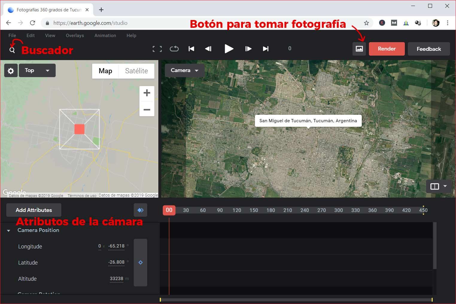 Google Earth Studio en San Miguel de Tucumán