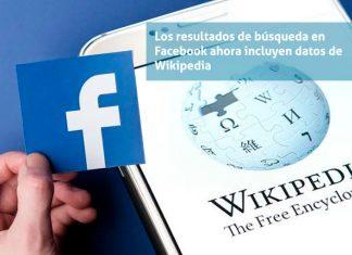 Resultados de wikipedia en Facebook
