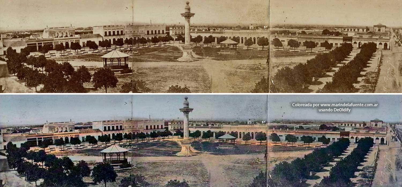 Plaza Independencia, Tucumán siglo XIX.