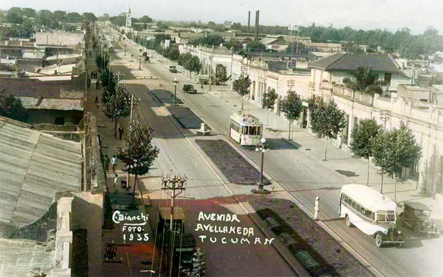 Avenida Avellaneda Tucuman año 1935