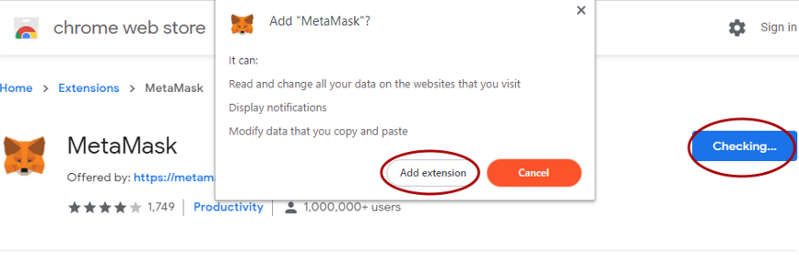 MetaMask extension