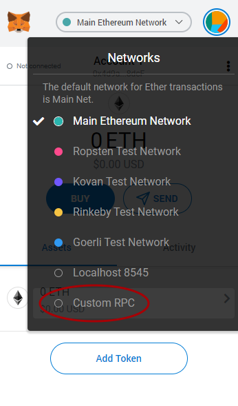 metamask custom rpc